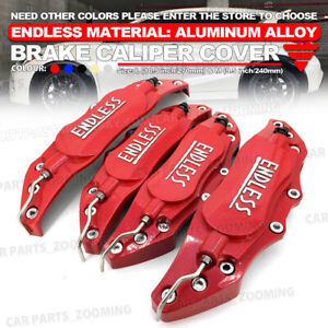 Metal 3d Endless Universal Style Brake Caliper Cover Front Rear 4x Red 10 5 Wl2