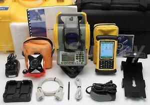 Trimble Ts635 5 Mechanical Total Station W Lm80 Nomad Controller Ts 635 Ts 635
