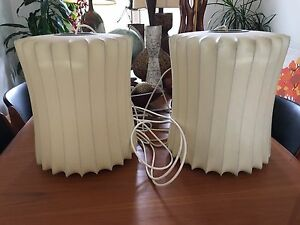 Two Mid Century Modern George Nelson Bubble Lamps Vintage Authentic