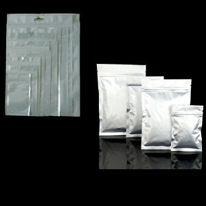 Clear White Plastic Bags Aluminum Foil Package Bags Mylar Ziplock Packing Pouch
