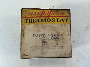 Vintage Harrison Water Heater Automotive Thermostat 1244 Made In Usa Bishop