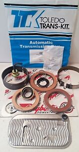Gm Thm 400 Transmision Overhaul Kit With Clutches Steels Bands Filter Modulator