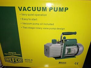 Refco Hvac 2 Stage Vacuum Pump 1 2 Hp 25 Microns Eco 5 Local Pickup Only