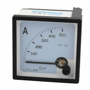 Sq72 a Class 1 5 Accuracy Dc 0 500a Analog Panel Meter Ammeter Amperemeter