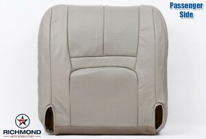 1999 2000 Cadillac Escalade passenger Side Bottom Bucket Leather Seat Cover Tan