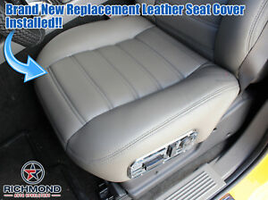 2003 2007 Hummer H2 Driver Side Bottom Genuine Leather Seat Cover Wheat Gray