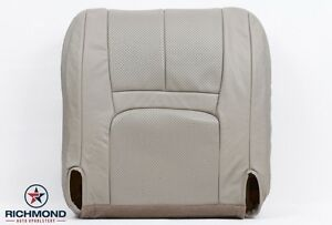 1999 2000 Cadillac Escalade driver Side Bottom Bucket Leather Seat Cover Tan
