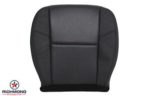 2013 Chevy Suburban Ltz driver Side Bottom Perforated Leather Seat Cover Black
