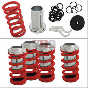 Adjustable 0 4 Red Suspension Coilovers Lowering Springs Kit W Scale