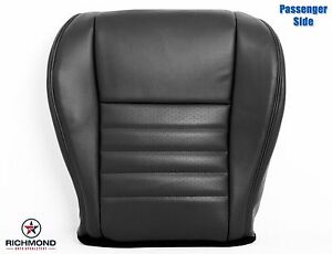 1999 2004 Ford Mustang Saleen S281 passenger Bottom Leather Seat Cover Black
