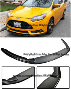 For 12 14 Ford Focus St Front Bumper Add On Bottom Line Carbon Fiber Lower Lip