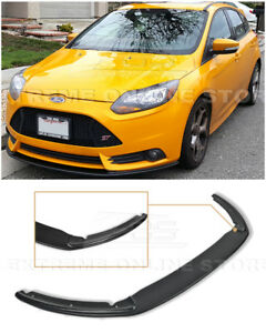 For 12 14 Ford Focus St Mk3 Primer Black Add On Front Bumper Lower Lip Splitter
