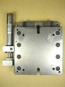 Linear Stage W Lansing Micrometer 4 X 4 X 1 Ht