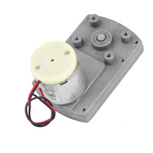 Dc12v 2rpm High Torque Electric Dc Worm Gear Box Motor Speed Reducer