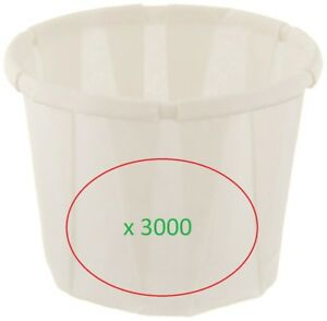 Paper Portion Squat Cups In White Lot Of 3000 Genpak F0501 5