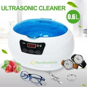 600ml Sterilizer Ultrasonic Jewelry Watch Dental Cleaner Tool Disinfect Machine