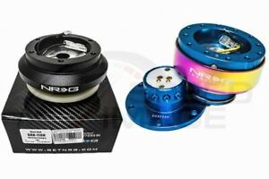 Nrg Steering Wheel Combo Kit 2 0 New Blue Neo Chrome Short Hub Adapter Srk 110h