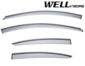 Wellvisors Side Window Visors W Black Trim For Chevrolet Cruze Sedan 4dr 11 15