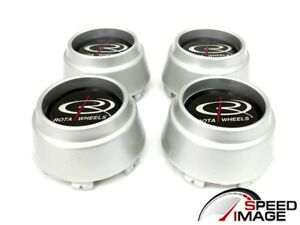Rota Wheels P45r P45f Silver Replacement Wheel Center Caps