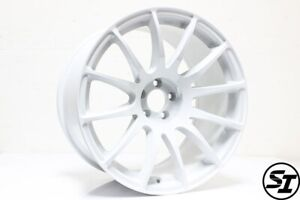 Rota Pwr Wheels 18x10 25 5x100 73 Hb White For Subaru Wrx 2002 2014 Widebody