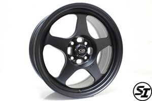 Rota Slipstream Wheels 16x7 40 4x100 67 1 Hb Satin Black Honda Civic Xa Xb Rims