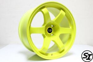 Rota Wheels Grid 17x9 12 4x114 3 Highlight Yellow For Nissan 240sx 1989 94 S13