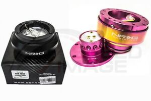 Nrg Steering Wheel Combo Kit 2 0 Qr Pink Neo Chrome Short Hub Adapter Srk 100h