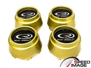 Rota Wheels P45r P45f Gold Replacement Wheel Center Caps