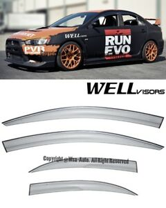 Wellvisors Side Window Visors Rain Aerodyn Series Mitsubishi Lancer 2008 20015