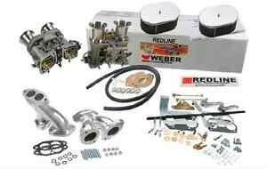 Rare Porsche 912 914 2 0 Vw T4 Genuine Dual Weber Racing 48 Ida Carburetor Kit