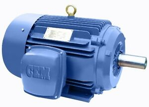 Premium Efficiency Cast Iron Ac Motor 75hp 3600rpm 365ts 3 Phase Tefc Ft