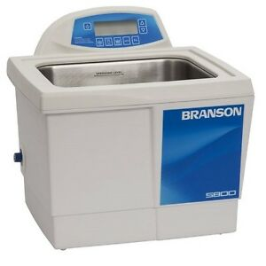 Branson 2 5 Gallon Ultrasonic Cleaner W Digital Timer Heater Degas Temp Monitor