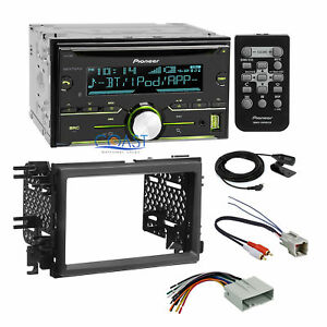 Pioneer Usb Bluetooth Radio Dash Kit Amp Harness For 04 Ford Lincoln Mercury