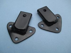 Pair Of Reconditioned Black Convertible Top Frame Tonneau Bow Sockets For Mgb