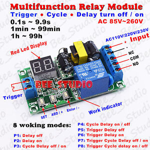 Ac 110v 220v Led Dispaly Time Cycle Delay Switch Timer Relay Turn On off Module