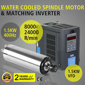 Cnc 1 5kw 1500w Milling Spindle Motor Water Cooled Engraver 65mm Er11 Router