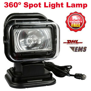 75w Magnetic Hid Spotlight 360 Lamp Searchlight Boat Car Wireless Remote 6000k