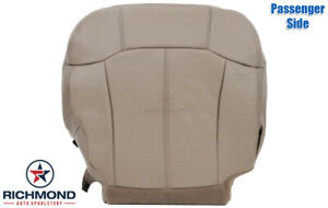 2002 Chevy Silverado Passenger Side Bottom Replacement Leather Seat Cover Tan