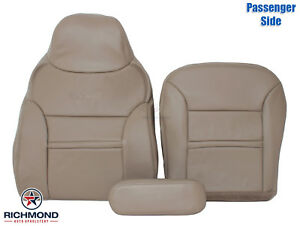 2000 2001 Ford Excursion Limited Passenger Side Complete Leather Seat Covers Tan