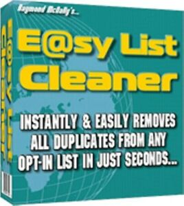 Email List Cleaner Works In Seconds Subscribers Will Not Get Duplicate Messages