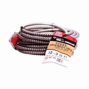 Southwire 55275021 Cable Acthr 12 3 Alflex Thhn Bond Wire With Steel Armor 2