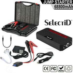 Portable Car Battery Jump Starter W Jumper Cables 68 800 Mah Power Bank Charger