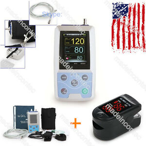 24 Hours Ambulatory Blood Pressure Holter Abpm50 pc Software oximeter Us Contec