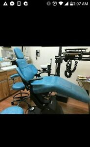 Ritter Dental Chair And Two Stools