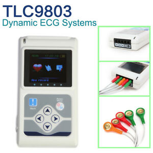Tlc9803 Holter Ecg 3 Channel 24 Hours Records Pc Software usa Sale
