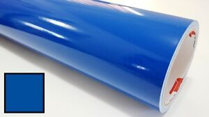 Traffic Blue Vinyl Roll Making Decals Signs And Craft Sticker Cutter 24inx30ft