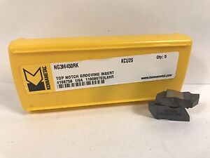 Kennametal Ng3m450rk New Carbide Inserts Grade Kcu25 5pcs Aa
