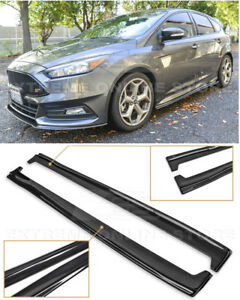 For 13 Up Ford Focus St Rs Carbon Fiber Add On Side Skirts Panel Extensions