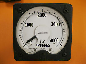 Westinghouse Dc 4000 Amperes Panel Meter Type Kx 24
