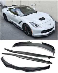 For 14 up Corvette C7 Z06 Stage 2 Combo Kit Front Lip Side Skirts